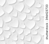 abstract background with hearts.... | Shutterstock .eps vector #346423733