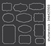 chalkboard frames   set of... | Shutterstock .eps vector #346425503