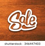 sale text on vector poster with ... | Shutterstock .eps vector #346447403