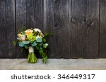 bouquet of flowers for the... | Shutterstock . vector #346449317