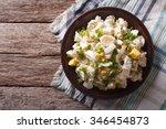 Salad Of Potatoes  Eggs  Green...