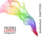 abstract vector rainbow.... | Shutterstock .eps vector #346475333