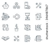 business and finance icon set... | Shutterstock .eps vector #346487867