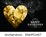 happy valentines day love... | Shutterstock .eps vector #346491467