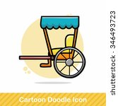 carriage doodle | Shutterstock .eps vector #346493723