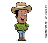 cowboy smiling | Shutterstock .eps vector #34650154