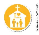 i love jesus design  vector... | Shutterstock .eps vector #346516613