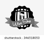 best wine design  vector... | Shutterstock .eps vector #346518053
