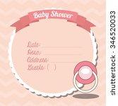 baby shower design  vector... | Shutterstock .eps vector #346520033