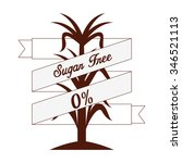 sugar free design  vector... | Shutterstock .eps vector #346521113