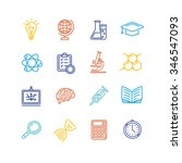 science outline colorful icons... | Shutterstock .eps vector #346547093