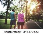 activity cardio cheerful couple ... | Shutterstock . vector #346570523