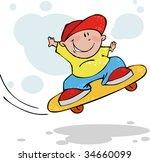cool jumping skateboarder | Shutterstock .eps vector #34660099