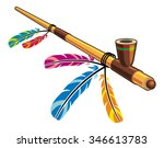 native american peace pipe | Shutterstock .eps vector #346613783