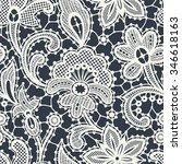 lace seamless pattern. | Shutterstock .eps vector #346618163