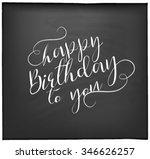 typographical  happy birthday... | Shutterstock .eps vector #346626257
