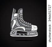 men's hockey skates. vector... | Shutterstock .eps vector #346651727