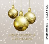 christmas background with three ... | Shutterstock .eps vector #346655423