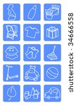 baby shop icons | Shutterstock .eps vector #34666558