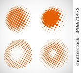 abstract dotted vector... | Shutterstock .eps vector #346671473