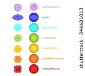 chakras icons. the concept of... | Shutterstock .eps vector #346681013