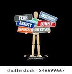comfort zone circle mannequin... | Shutterstock . vector #346699667
