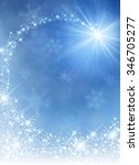 blue winter background with...   Shutterstock .eps vector #346705277