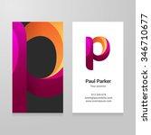 modern letter p twisted... | Shutterstock .eps vector #346710677