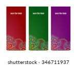 save the date vector set for... | Shutterstock .eps vector #346711937