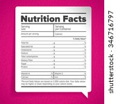 nutrition facts label lettering | Shutterstock .eps vector #346716797