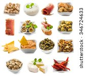 photo collage of spanish tapas  ... | Shutterstock . vector #346724633