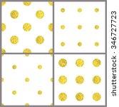 gold polka dot seamless...   Shutterstock .eps vector #346727723