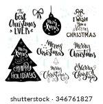 collection og handdrawn... | Shutterstock .eps vector #346761827