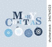 merry christmas pattern with... | Shutterstock .eps vector #346764023