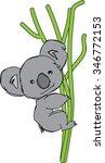 koala cartoon. | Shutterstock .eps vector #346772153