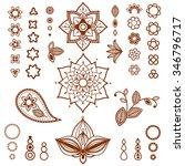 henna ornamental floral... | Shutterstock .eps vector #346796717