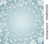 blue background with snowflakes.... | Shutterstock . vector #346803203
