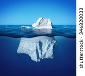 Underwater View Of Iceberg Wit...