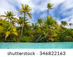 stunning tropical island with... | Shutterstock . vector #346822163