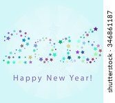 happy new year 2016 greeting... | Shutterstock .eps vector #346861187