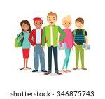 vector group of students | Shutterstock .eps vector #346875743