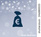 money bag vector icon.
