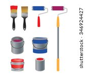 brush and roller for paint ... | Shutterstock .eps vector #346924427