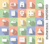 collection  household icon ... | Shutterstock .eps vector #346930403