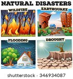 different type of natural... | Shutterstock .eps vector #346934087