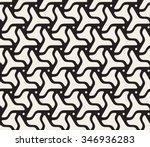 vector seamless black and white ... | Shutterstock .eps vector #346936283