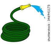 garden water hose | Shutterstock .eps vector #346941173