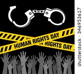 human rights day poster... | Shutterstock .eps vector #346953617