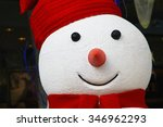 Closeup Of Smiling Snowman