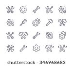 repair  tools icons. | Shutterstock .eps vector #346968683